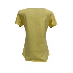 Camiseta Feminina Ox Horns Amarela Arizona Strass  Ref. 6171