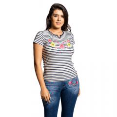 Camiseta Feminina T-Shirt Miss Country - Listrada Ref:0555