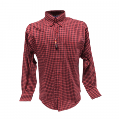 Camisa Masculina Classic Xadrez Vermelho Ref: 1908