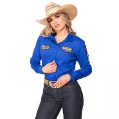 Camisa Radade Feminina Azul Royal ML Ram Rodeo Ref: 004514