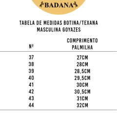 Bota Texana Masculina Goyazes Couro de Avestruz - Preto Crazy Horse Havana