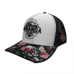 Boné Feminino Karandá Oficial Preto Com Flores