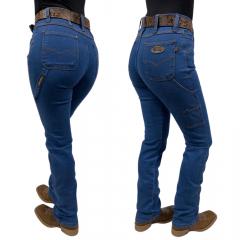 Calça Jeans Feminina Carpinteira Race Bull Delavê