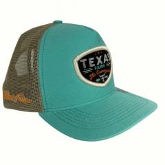 Boné Country Infantil Texas Farm Verde Água/Bege Ref.: TF623