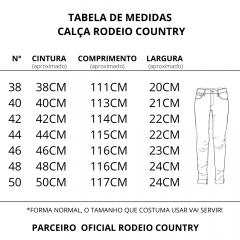 Calça Jeans Masculina Rodeio Country Delavê Clara  Ref. 3004