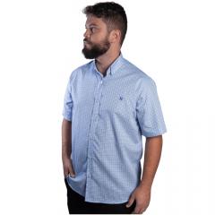 Camisa Masc country TXC Azul Xadrez Manga Curta - Ref.: 2527