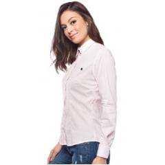 Camisa Feminina Escaramuça Listrado Rosa