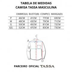 Camisa Masculina Xadrez Tassa Azul REF 4621