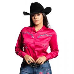 Camisa Feminina Miss Country Encontro Rosa Ref: 0583