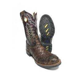Bota Texana Masculina Rodeo Way Escamada Med Dog/Café
