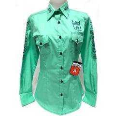 Camisa Feminina Bordada Os Vaqueiros Oficial - Ref.1268