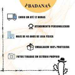 Botina Batistão Preta Lisa Bico Redondo - Ref.030