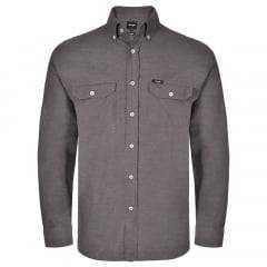 Camisa Flanela Masculina Wrangler  Marrom Acinzentado
