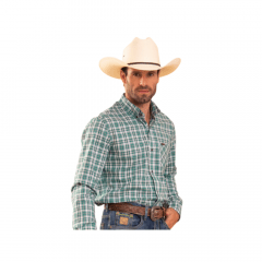 Camisa Masculina Xadrez Tassa Verde REF 4616