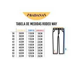 Calça Country Masculina Rodeo Way Delavê