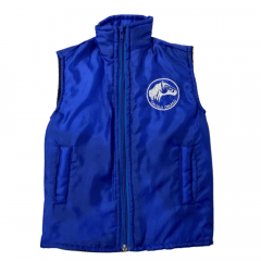 Colete Infantil Badana Cavalo Crioulo Azul Royal