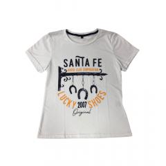 Camiseta Feminina Santa Fé Branco Horse Clube Corporation