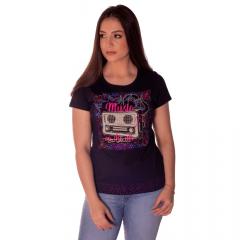 Camiseta T Shirt Feminina Ox Horns Music - Preta Ref: 6226