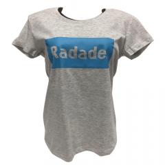 Camiseta Feminina Radade Baby Look Cinza