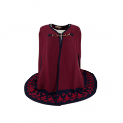 Poncho Capa Flor de Lis Oldoni  Vermelho- Ref: P7101