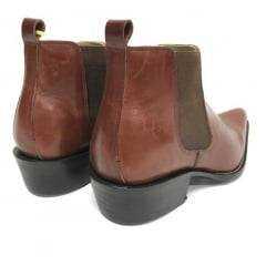 Bota Masculina Country Goyazes Bico Fino Pull Up Brown