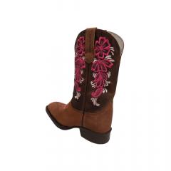 Bota Texana Feminina Texas Rodeo Crazy Sela Rosa -Ref: TR323