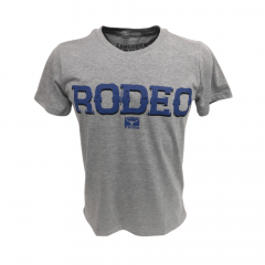 Camiseta Masculina Longhorn Truck Cinza Rodeo