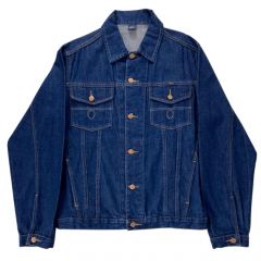Jaqueta Jeans Cury Badana Azul Escura