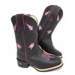 Bota Texana Feminina Mr. West Boots Feminina - 1474 - Fossil/Preto