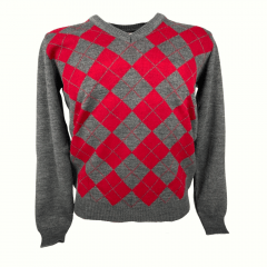 Blusa Suéter Mascul Pátria Pampa Vermelho Cinza Com Vermelho