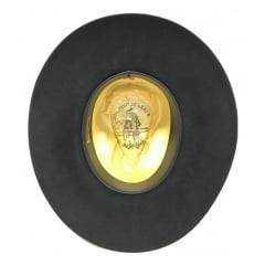 Chapéu Australiano Cury Pelo De Lebre Preto Aba 8,5