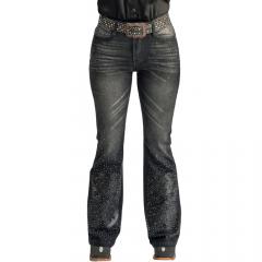 Calça Jeans Feminina Miss Country Turmalina Preta Ref: 0657