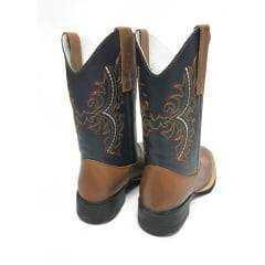 Bota Texana Country Feminina Big Bull Brasa/Azul - Ref.900