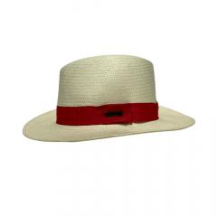 Chapéu Marcatto Panamá Palha Aba 6 Bandinha Vermelha