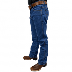 Calça Jeans Country Masculina Pura Raça Azul Escuro