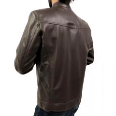 Jaqueta Masculina em Couro Pelica Badana Marrom