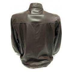 Jaqueta Masculina em Couro Pelica Badana Marrom Ref:359PEL