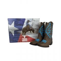Bota Texana Feminina Texas Rodeo Crazy Marrom com Bordado