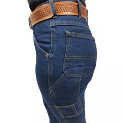 Calça Jeans Feminina Estilo Country Carpinteira