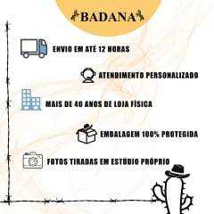 Camisete Feminina Bordada Radade Barretos Bandeira do Brasil Bege
