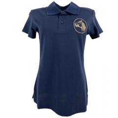 Camiseta Polo Feminina Cavalo Crioulo - Azul